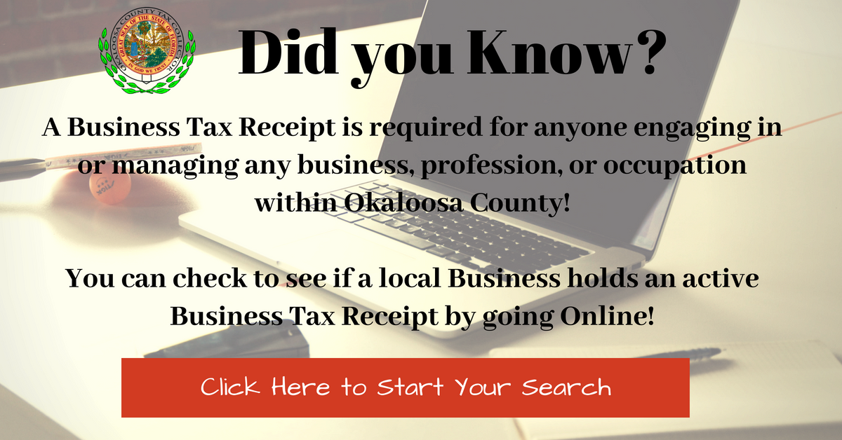 Business Tax Receipt Search	graphic
