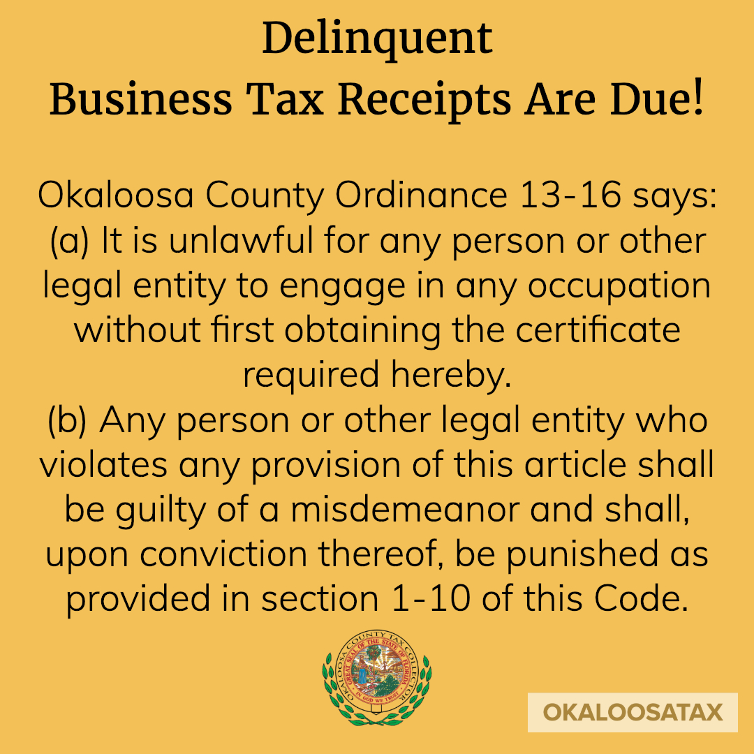 Okaloosa County Tax Collector – Official Site – Serving You