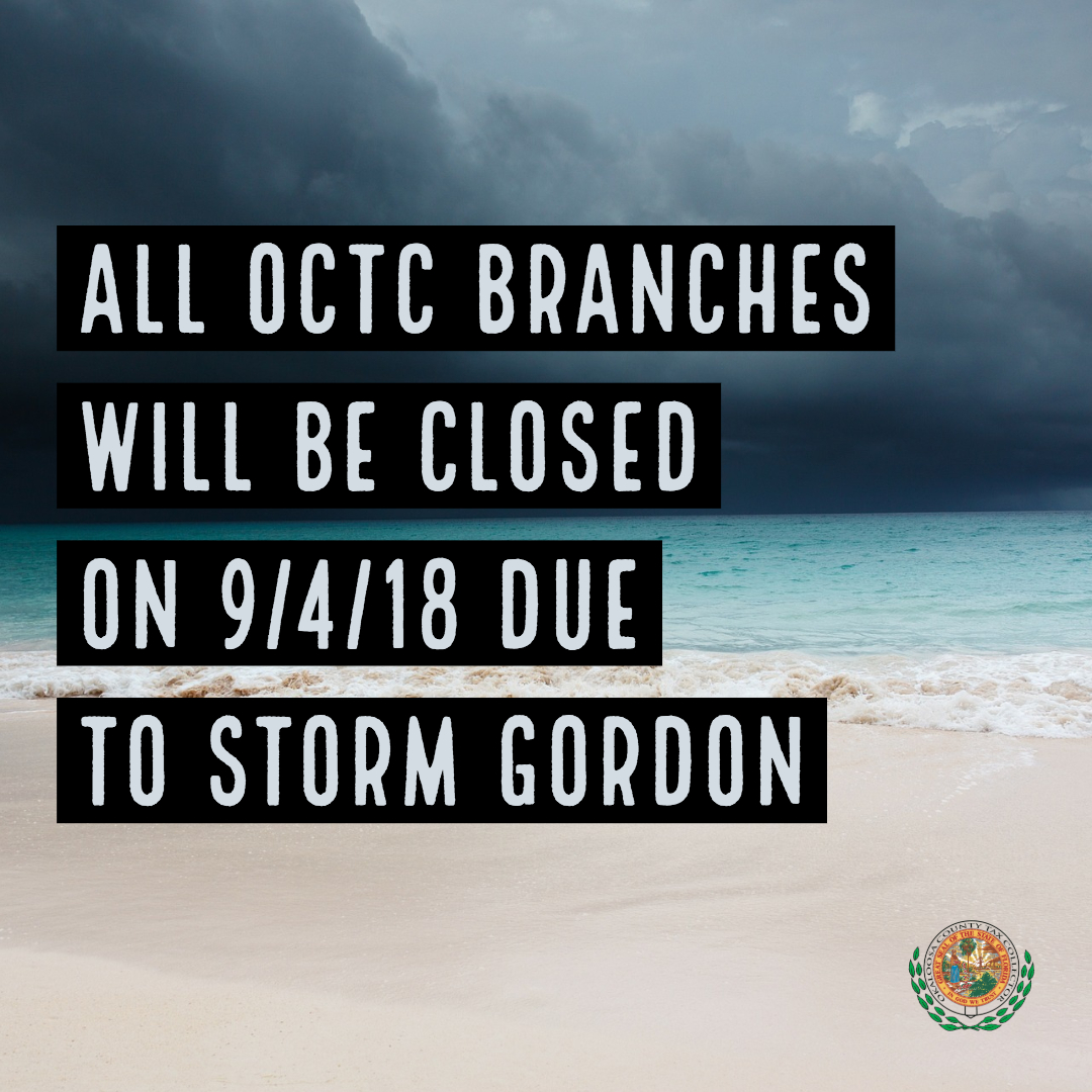 Offices closed due to storm Gordon graphic