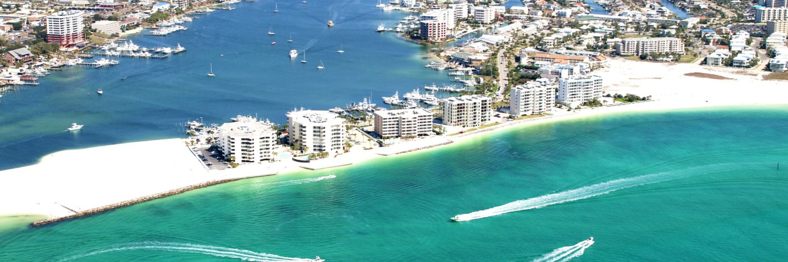 aerial view of the emerald coast