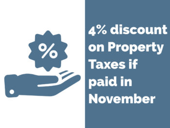 EARLY PAYMENT PROPERTY TAX DISCOUNT
