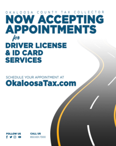 TAX COLLECTOR OFFICES TO OPEN FOR DRIVER LICENSE & ID CARD SERVICES BY APPOINTMENT ONLY