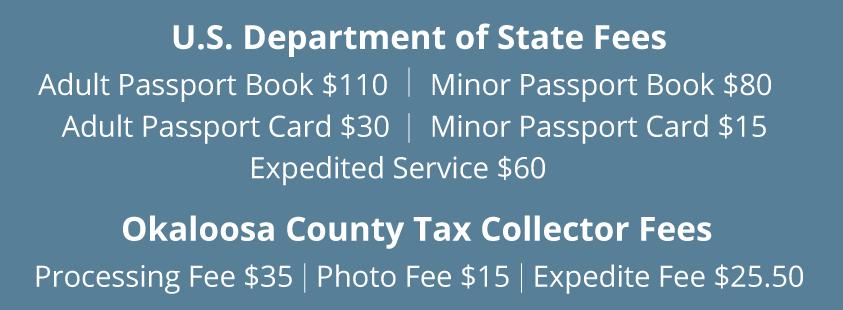 Passport Fee Schedule
