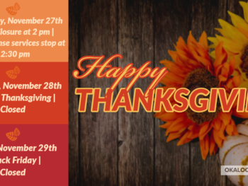 Thanksgiving Holiday Hours 2019