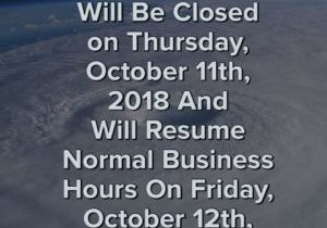 octc closed october 11th resume october 12th